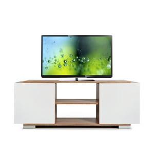 Televizní stolek Pera, bílý/samba