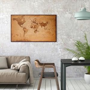Obraz na plátně OrangeWallz Vintage World Map, 70 x 118 cm