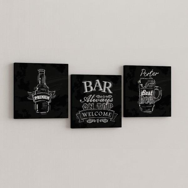 Sada 3 obrazů Bar