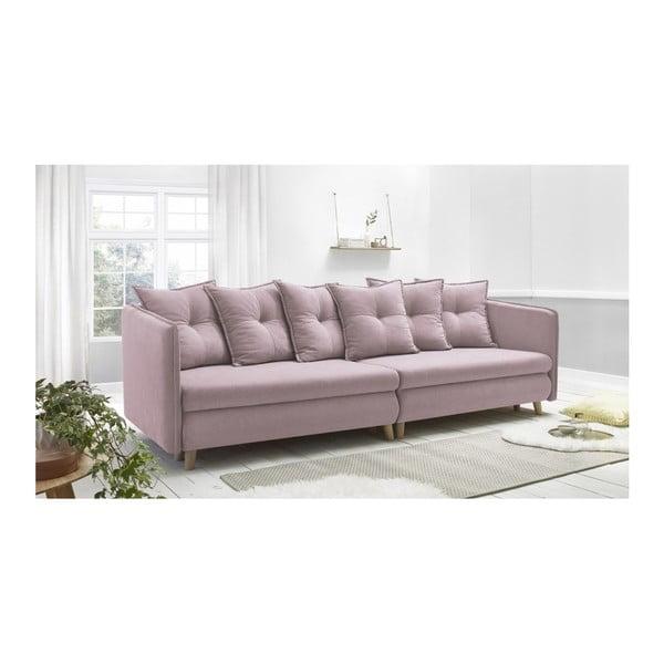 Canapea cu 4 locuri Bobochic Paris Riga, roz