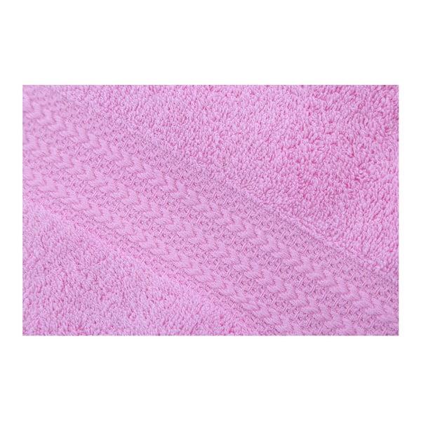 Růžový ručník z čisté bavlny Sunny, 50 x 90 cm