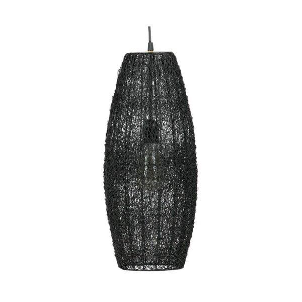 Čierne závesné svietidlo De Eekhoorn Creative, Ø20cm