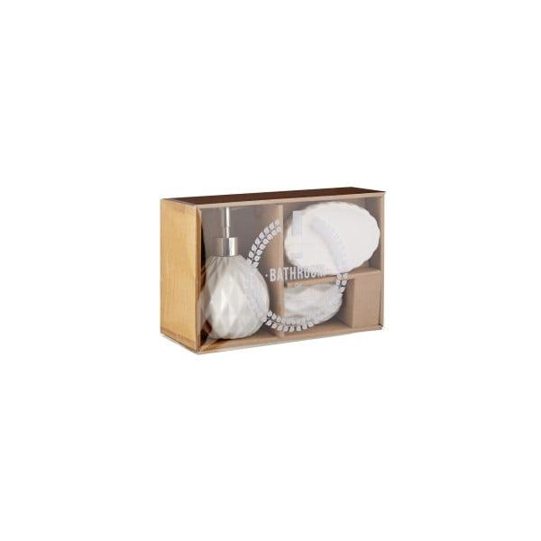 Set 3 koupelnových doplňků Premier Housewares Sunrise White