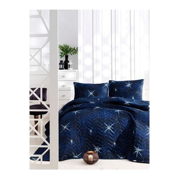 Set bavlnenej prikrývky cez posteľ a 2 obliečok na vankúše Masso Fico, 200×220 cm