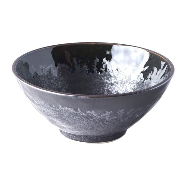Černá keramická miska na udon MIJ Matt,ø20cm