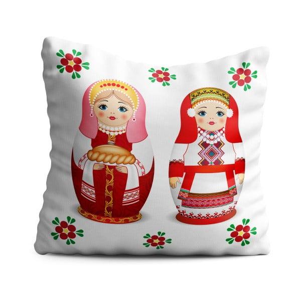 Detský vankúš OYO Kids Rustico Dolls, 40 x 40 cm