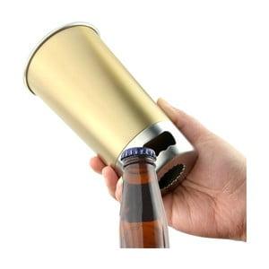 Žlutý nezničitelný půllitr na pivo s otvírákem Asobu Brew Cup Opener