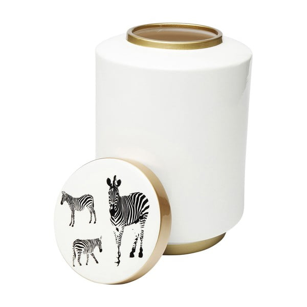 Dekoratívne dóza Kare Design Zebra Jar, výška 33 cm