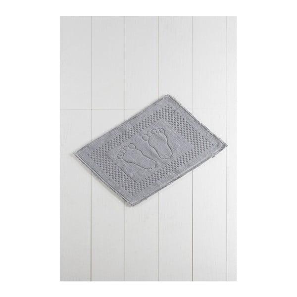 Szary dywanik łazienkowy Carrisma Mento, 70x50 cm