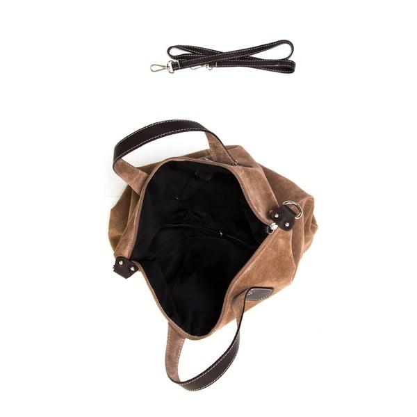 Kožená kabelka Luisa Vannini 895 Fango