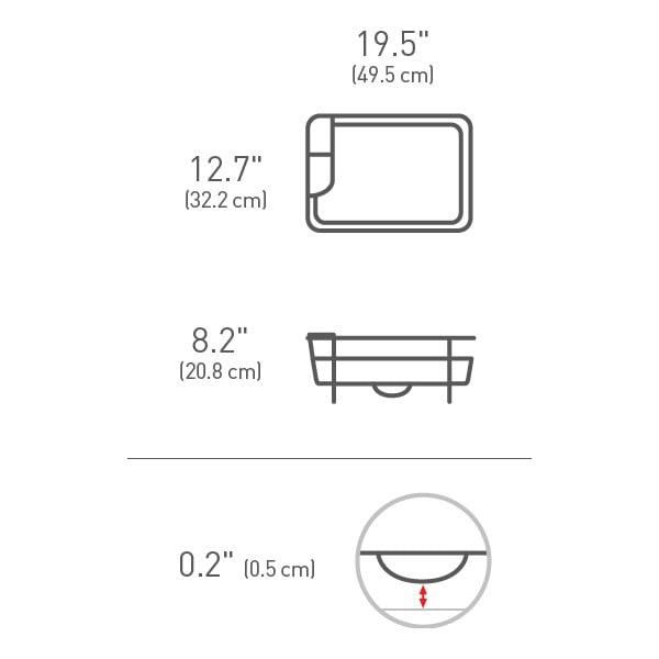 Odkapávač na nádobí simplehuman Gori