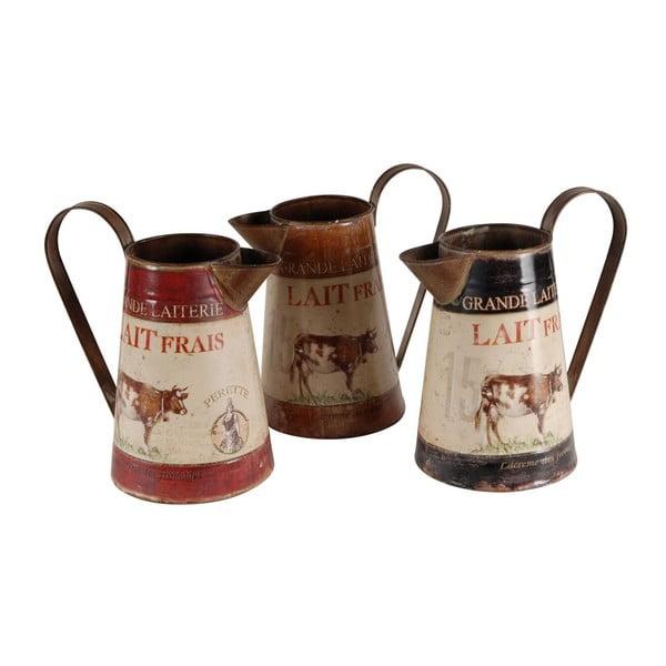 Zestaw 3 dzbanków na mleko Antic Line Lait Frais