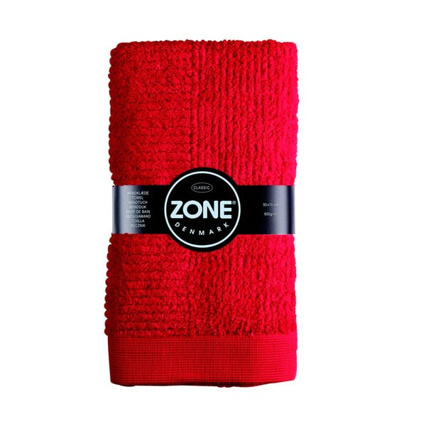 Ručník Zone, 70x50 cm, červená