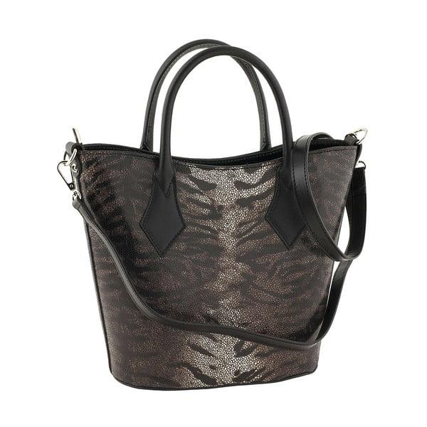 Kožená kabelka Teggie Black