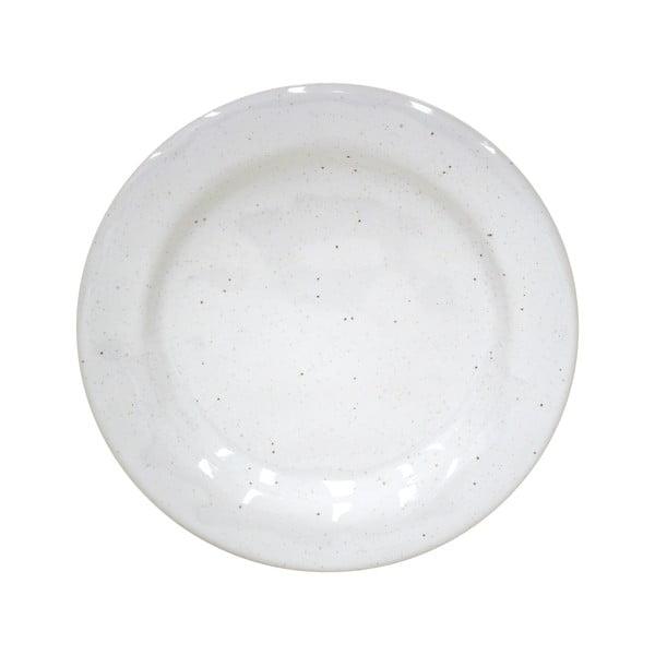 Biely dezertný tanier z kameniny Casafina Fattoria, ⌀ 23 cm