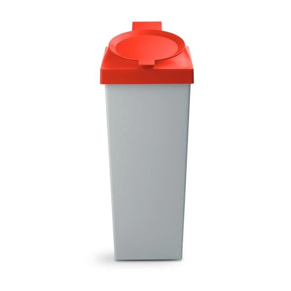 Odpadkový koš Top, 20 l, červený
