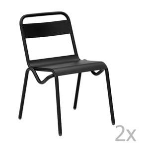 Set 2 scaune de grădină Isimar Anglet, negru