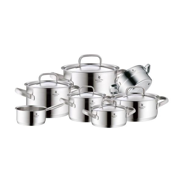 Set 7 oale din oțel inoxidabil cu capac WMF Cromargan® Gourmet Plus