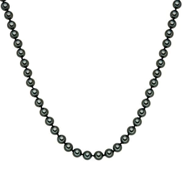 Perlový náhrdelník Muschel, zelené perly 8 mm, délka 80 cm