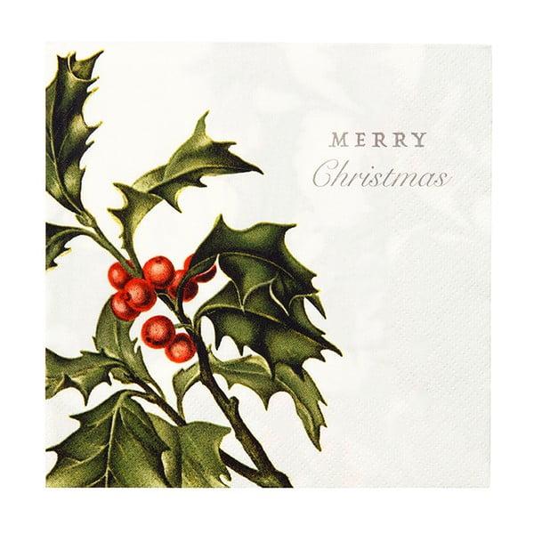 Sada 20 kusů ubrousků Talking Tables Merry Christmas