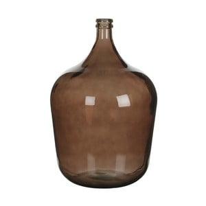 Hnědá skleněná váza Mica Diego, 56x40cm