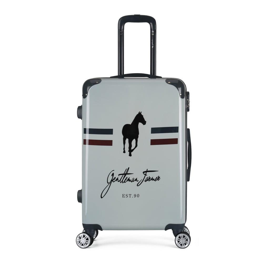 Béžový cestovní kufr na kolečkách GENTLEMAN FARMER Valise Grand Format, 47 x 72 cm