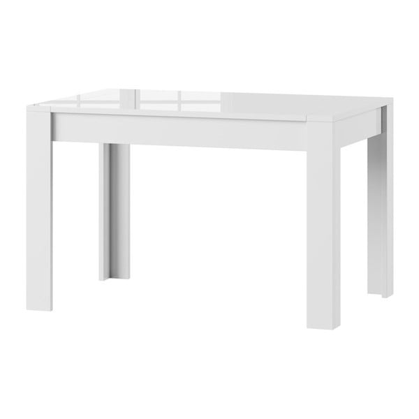 Bílý rozkládací lesklý jídelní stůl Szynaka Meble Syrius
