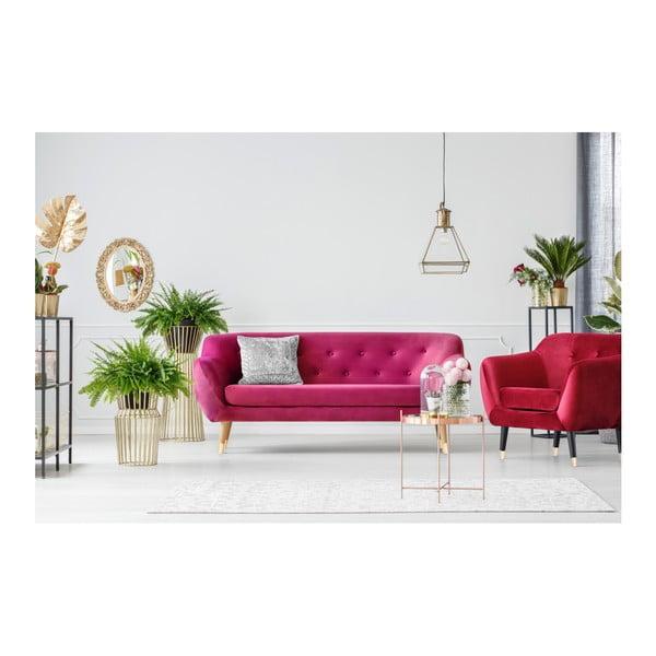 Růžová třímístná pohovka Mazzini Sofas Amelie