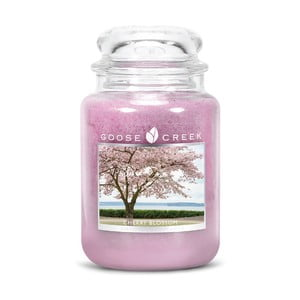 Vonná svíčka ve skleněné dóze Goose Creek Třešňový květ, 150 hodin hoření