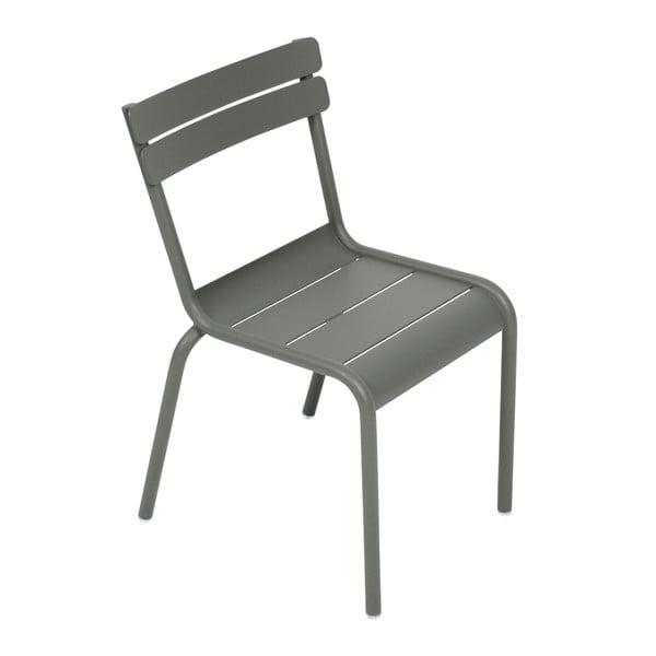 Šedá dětská židle Fermob Luxembourg