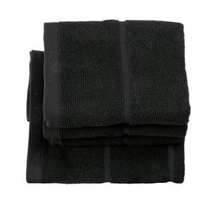 Černý ručník Aquanova Adagio, 55x100cm