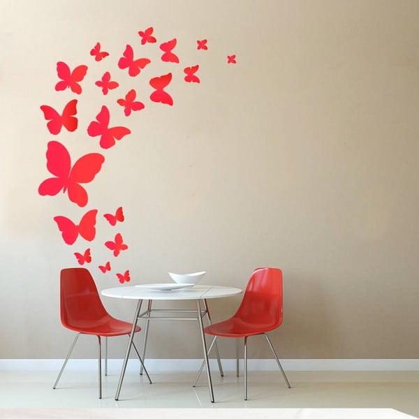 Dekorativní samolepka na zeď Červení motýlci