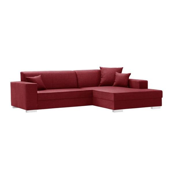 Červená sedačka Interieur De Famille Paris Perle, pravý roh