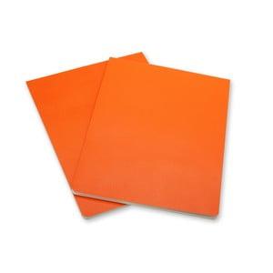 Sada 2 oranžových bloků Moleskine Volant