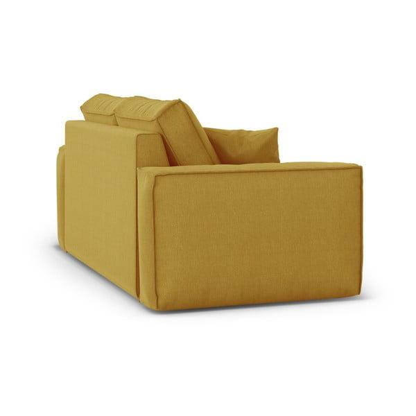 Žlutá dvoumístná pohovka Cosmopolitan Design Miami