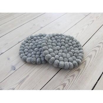 Suport pahar, cu bile din lână Wooldot Ball Coaster, ⌀ 20 cm, gri oțel imagine