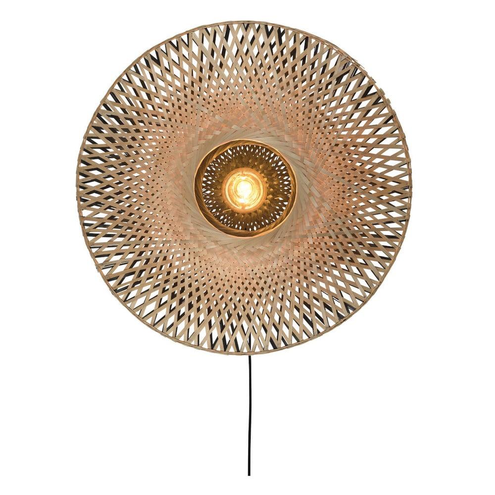 Nástěnné bambusové svítidlo Good&Mojo Kalimantan, ⌀87cm