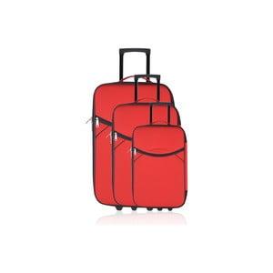 Sada 3 kufrů Valis Red, 65 l/44 l/28 l