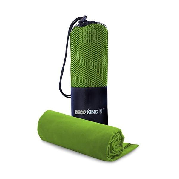 Set limetkově zelené rychleschnoucí osušky a ručníku DecoKing EKEA, 70 x 140 cm + 30 x 50 cm