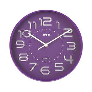 Fialové nástěnné hodiny Versa Reloj, ⌀ 28 cm