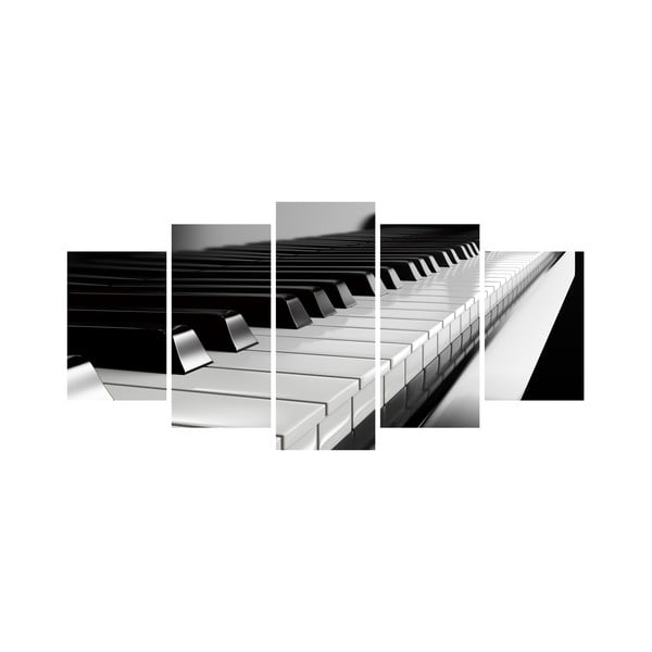 Vícedílný obraz Black&White no. 4, 100x50 cm