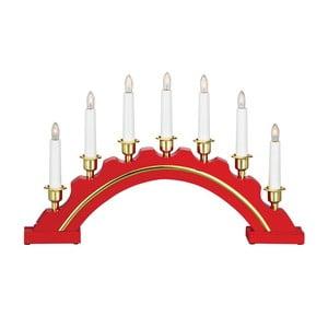 Červený dřevěný LED svícen Markslöjd Celine
