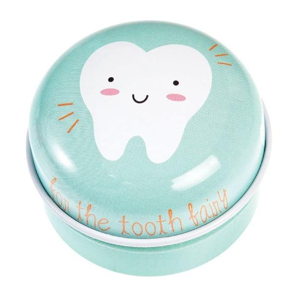 Cutie metalică pentru dinții de lapte Rex London Tooth Fairy, albastru