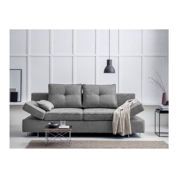 Světle šedá dvojmístná rozkládací pohovka Windsor & Co Sofas Iota
