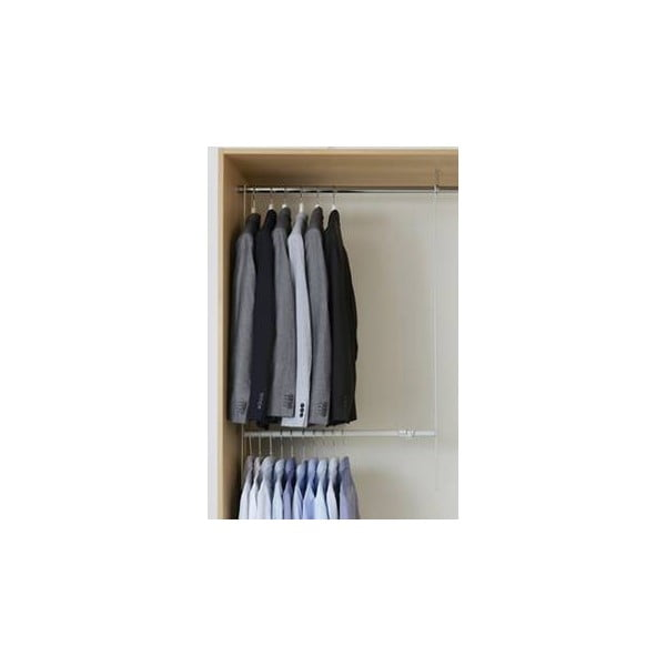 Biały drążek teleskopowy do szafy na ubrania Compactor Telescopic Garment Rail