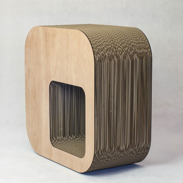 Kartonový sedák Kartoons, přírodní