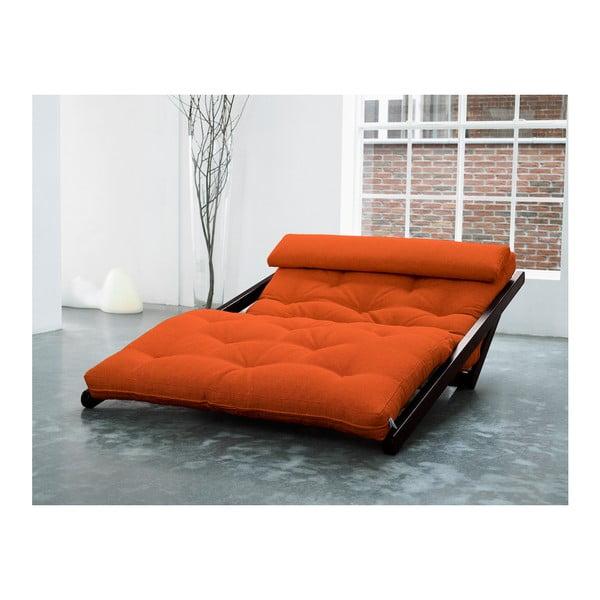 Fotoliu Karup Figo, Wenge/Orange, 120 cm