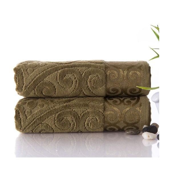 Sada 2 ručníků Hanzade Green, 50x90 cm