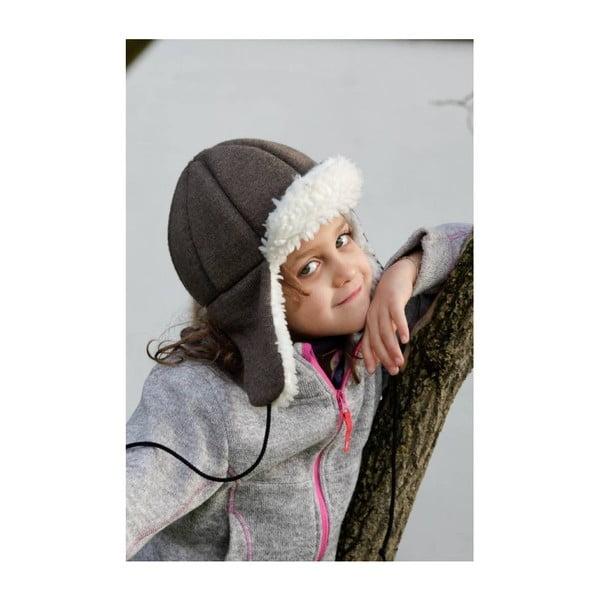 Dětská hnědá čepice s ochrannými prvky Ribcap Bieber, vel. M