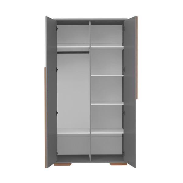Tmavě šedá dětská šatní skříň Pinio Snap, 98,5 x 195 cm